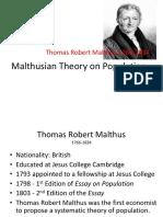 11 Malthusian Theory