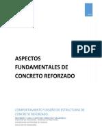 Comportamiento y diseño de elementos de concreto reforzado