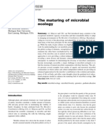 The maturing of microbial ecology