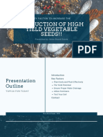 Key Factor To Increase The Production Of High Yield Vegetable Seeds!!