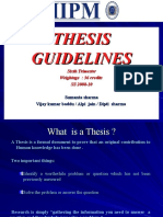Thesis Guidelines SS 2008 -10