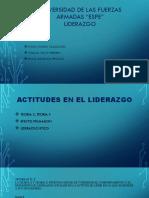 ACTITUDES EN EL LIDERAZGO. EVELYN ZAPATA-WILLIAM VELOZ-DAVID SIGUENCIA