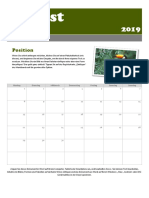 August Photo Calender
