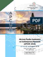 Proceeding APCCR 2018