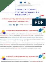 Managementul carierei_Personalitate si performanta_Curs_Spiru Haret