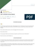 SAP S_4HANA Article Master _ SAP Blogs