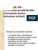 Parteneriat scoala-familie_Comunitate pentru incluziune scolara_Curs_Spiru Haret