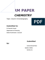 Term Paper Column Chromatography