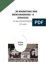 Fashion Marketing & Merchandising II