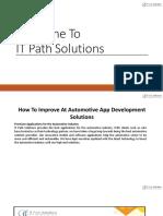 Automobile App Development - IT Path Solutions