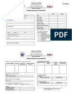 STUDENT INDIVIDUAL INVENTORY blank form