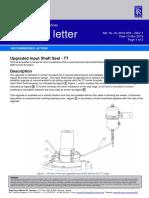 SL-UL-2019-003 Input Shaft Seal Upgrade - TT1100-3300