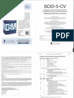 SCID-5-CV - Rezumatul fisei de punctare a diagnosticului
