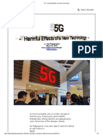 5G - Harmful Effects of a New Technology