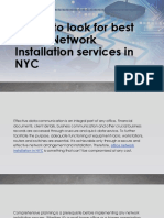 Office Network Installation Services NYC