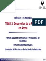 TEMA 2 Desarrollos de la Fundicion