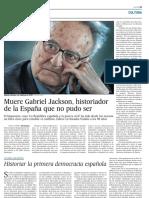 Adiós a Gabriel Jackson.