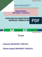 SNI ISO 17020-2012