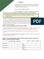 isotopes worksheet answer key