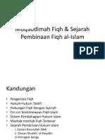 3.1.11 Perkembangan Fikh SEJARAH FIQH