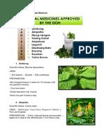 DOH Approved Herbal Medicine