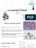 Genres Nonsense poetry (Acosta-Garcia)
