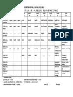 Exam Schedule January 2020