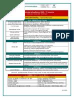 Breve Calendario Académico 2020- 1º semestre - First Semester
