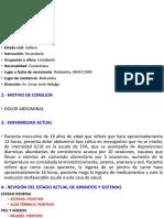 CASO CLINICO DESHIDRATACION