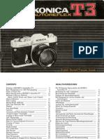 Konica Auto Reflex T3 Manual