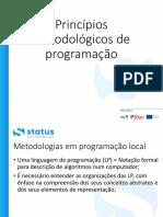 Principios metodologicos de programacao-Parte1
