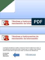 Tecnicas e instrumentos Auditoría