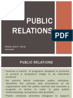 Chapter 4 - Public Relations