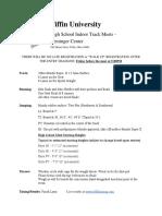 2019-2020 HS Indoor Home Meet Info and Schedule