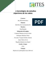 Reporte de Carrito Arduino3.0
