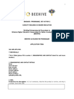 BEEHIVE Accelarator Programme_Application Form