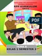RPP 1 lembar Kelas 1 Tema 8 Revisi
