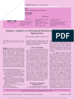 Malaria Update on Antimalarial Resistance and.21