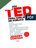 Descargar Método TED para hablar en público (Edición revisada y ampliada) Libro Gratis (PDF ePub Mp3) - Jeremey Donovan