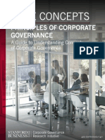 The Principles of Corporate Governance