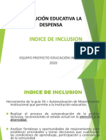 PRESENTACION  INDICE DE INCLUSION I.E. LA DESPENSA 2020