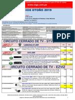 Lista de Precios Otoño 2019 CCTV NO DPP