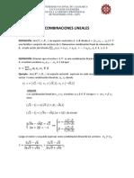 COMBINACIONES LINEALES pongo