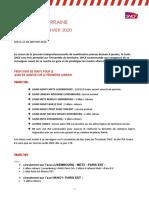 2020 01 08 Prévisions de Trafic Lorrain Mouvement Interprofessionnel Jeudi 09 Janvier 2020