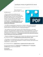 psychomedia.qc.ca-Antidépresseursnbsp quelques mises en garde de la revue Prescrire