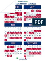 2020 Texas Rangers game times