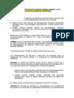 Formato de Minuta SAC sin directorio aporte bienes