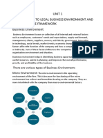 LEGAL BUSINESS ENVIRONMENT