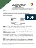 NORMAS REGULADORAS TEMPORADA 2019-2020