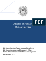 """""""Guidance on Managing Outsourcing Risk,"""" Board of Governors of the Federal Reserve System"""